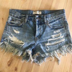 Free People Frayed Shorts